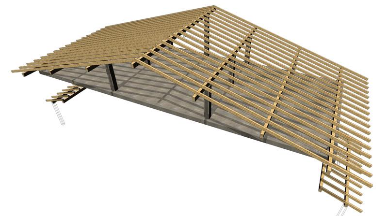 Tejado de madera estructura de tejado de madera de madera laminada encolada moarberg by dr - Estructuras de madera para tejados ...