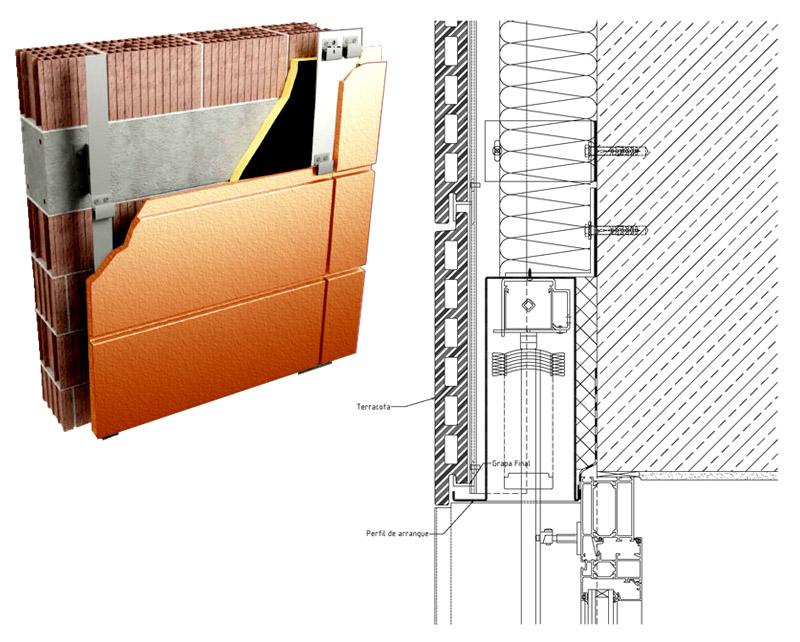 Paneles fachadas ventiladas materiales de construcci n - Materiales de construccion para fachadas ...