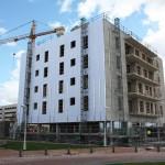 Fachada de Edificio en Ardoi en construcción