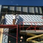 Fachada de Cachet en construcción