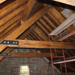 Estructura de madera en Abaurrea