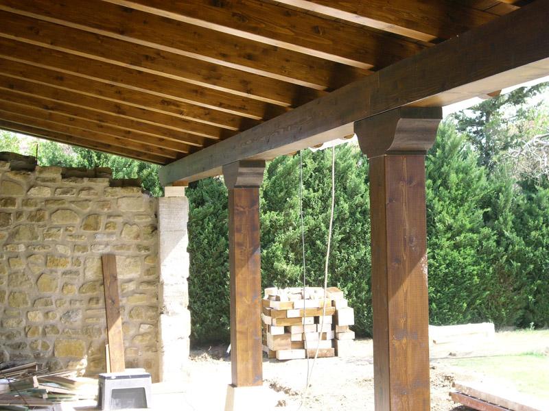 Porche de madera precio top madera casa y jardn construir - Precio construir casa ...