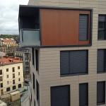 Detalle edificio de viviendas en San Bartolomé Muinoa