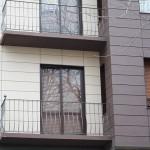 Detalle material rehabilitación fachada